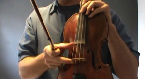 Beginning Fiddle - Lesson 3 - Bowing Open Strings-300x164