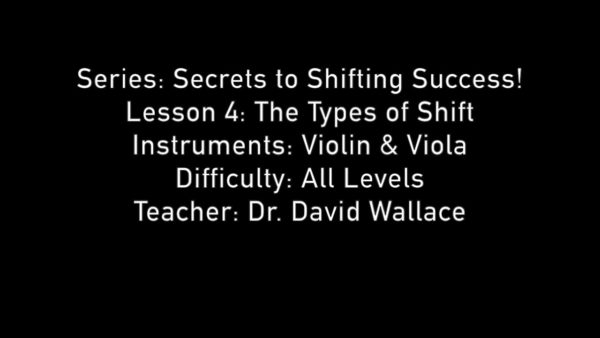 Secrets to Shifting Success - Lesson 4 - Types