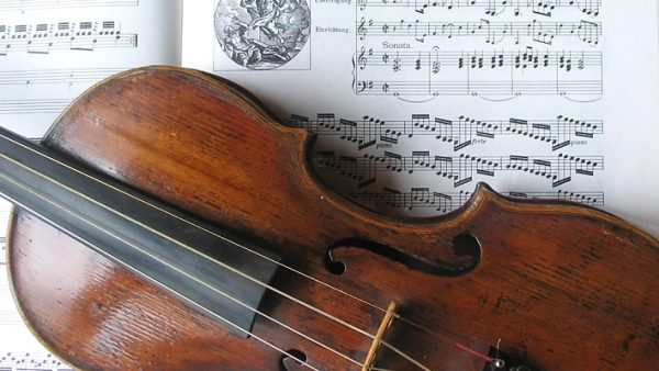 is violin tuning in a key