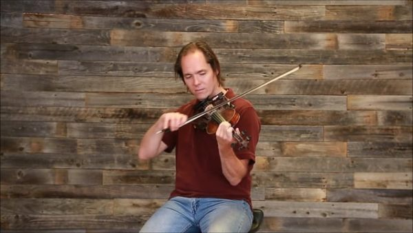 simple double stop scale in key of a level 2 inter-adv scale lesson