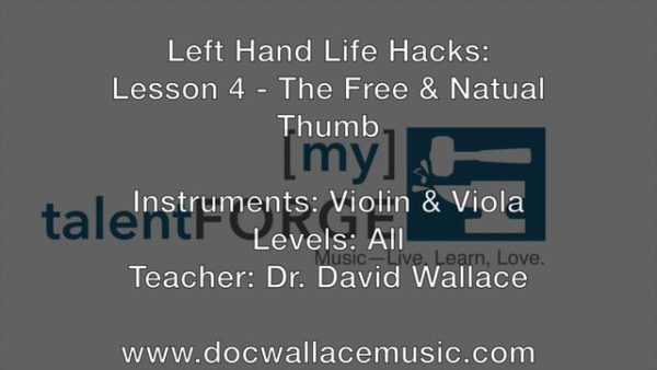 Left Hand Life Hacks - Lesson 4 - The Free and Natural Thumb