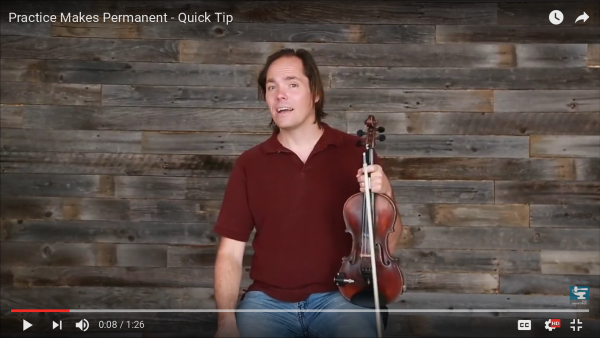 Practice Makes Permanent - Quick Tip